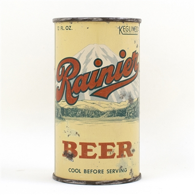 Rainier Beer Instructional Flat Top Can