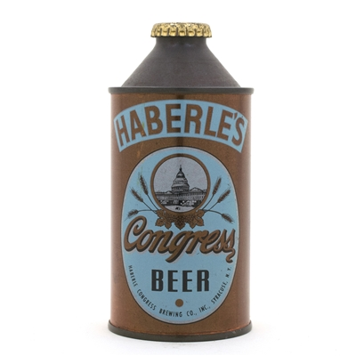 Haberle's Congress Beer High Profile Cone Top