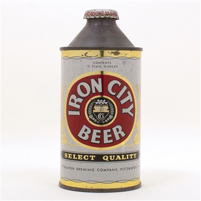 Iron City Select Quality Beer 170-01 Cone Top
