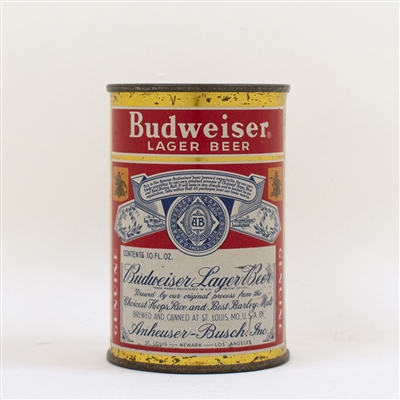 Budweiser Lager Beer 10 oz Flat Top Can