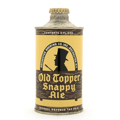 Old Topper Snappy Ale J-Spout Cone Top