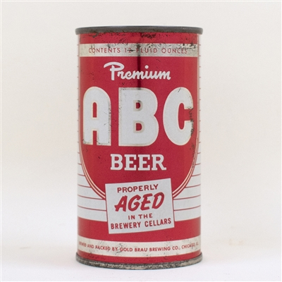 ABC Beer Flat Top Can Vanity Lid