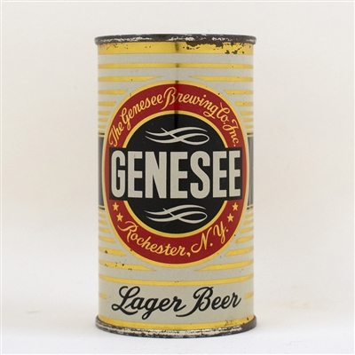 Genesee Lager Beer Flat Top Can