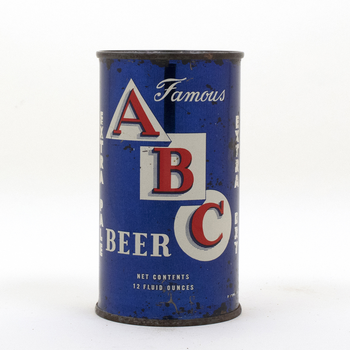 ABC Beer Flat Top Beer Can