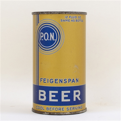 Feigenspan P.O.N. Beer Flat Top Can