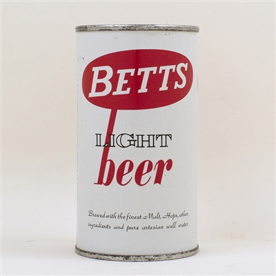 Betts Light Beer Flat Top Can