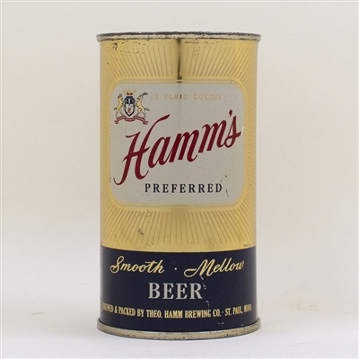 Hamms Smooth Mellow Beer Flat Top Can