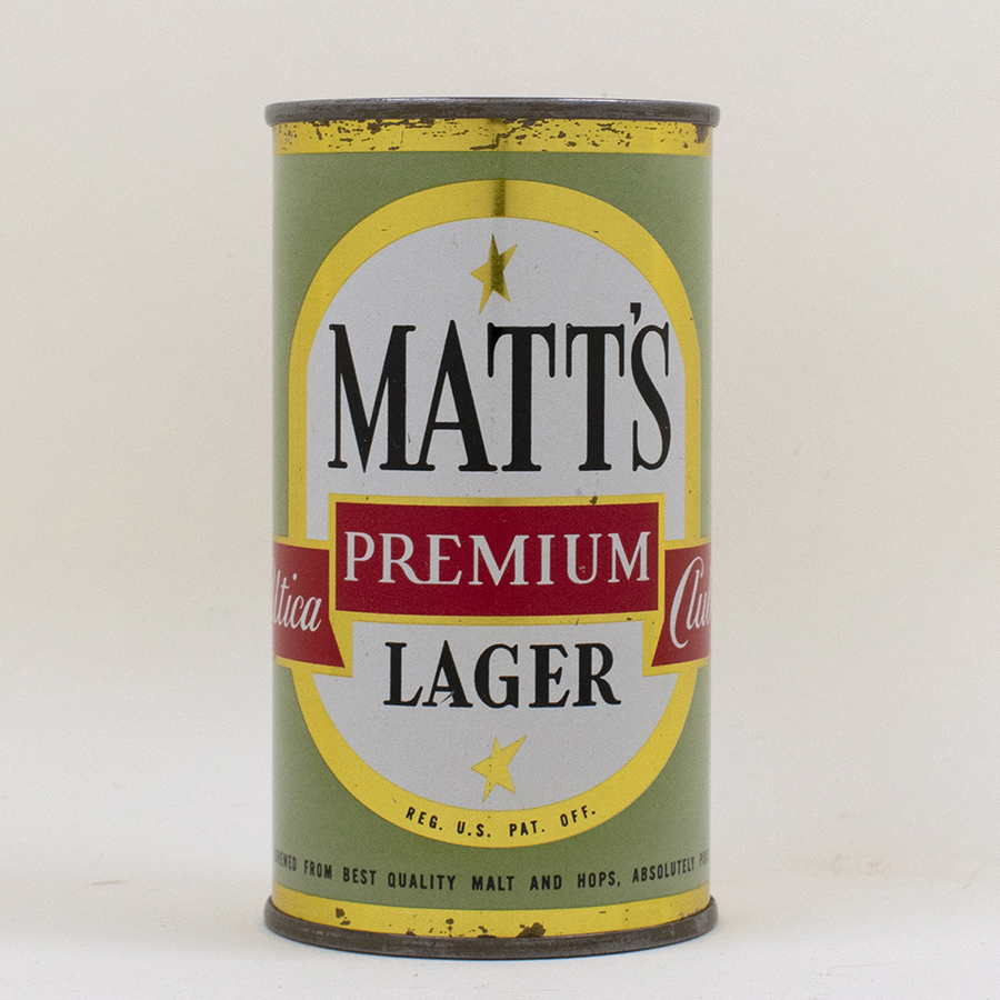 Matts Premium Lager Flat Top Can
