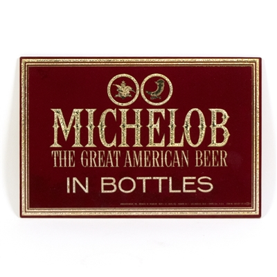 Michelob Beer Reverse Painted Glass Sign