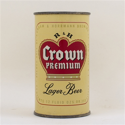 R and H Crown Premium Lager Flat Top Can