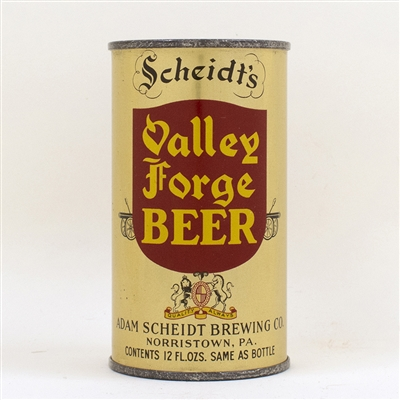 Valley Forge Beer Instructional Flat Top Can