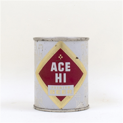 Ace Hi Beer 8 oz Flat Top Can Vanity Lid