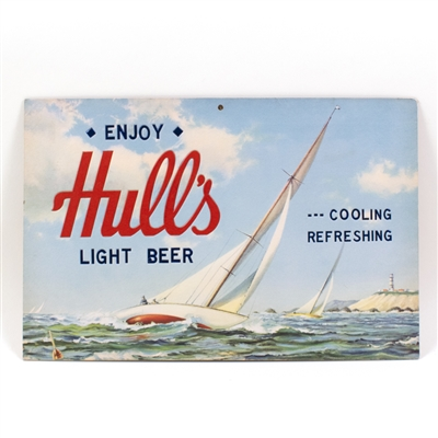 Hulls Light Beer Sailboat Nautical Sign