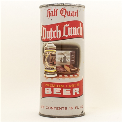 Dutch Lunch Beer Pint Flat Top Can