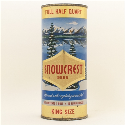 Snowcrest Beer Pint Flat Top Can