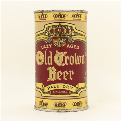 Old Crown Beer Opening Instruction Flat Top Can