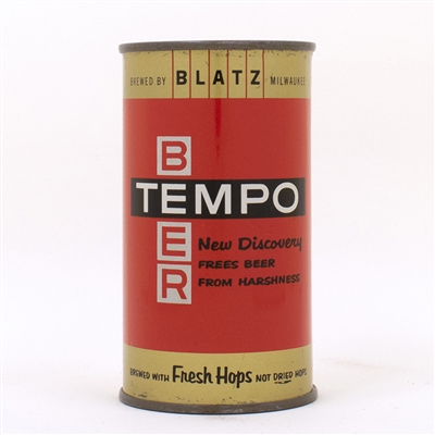 Tempo Beer Blatz Flat Top Can ENAMEL