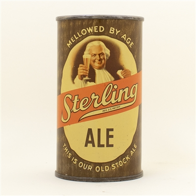 Sterling Ale Opening Instruction Flat Top Beer Can