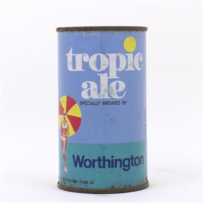 Tropic Ale Worthington Flat Top Beer Can Bikini