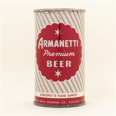 Armanetti Beer Flat Top Can