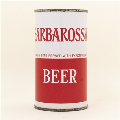 Barbarossa Beer Flat Top Can