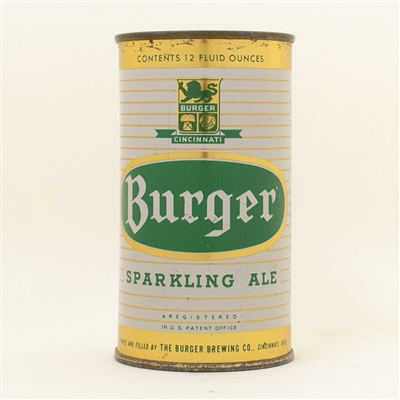 Burger Ale Flat Top Beer Can