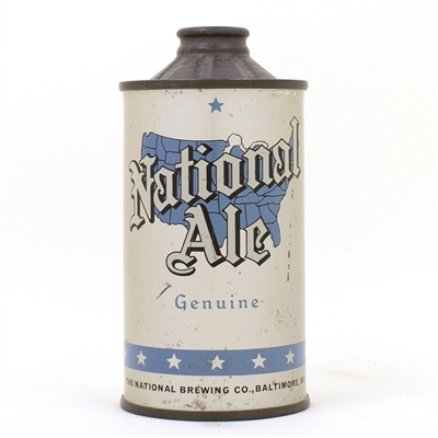 National Ale FBIR Cone Top Map Can