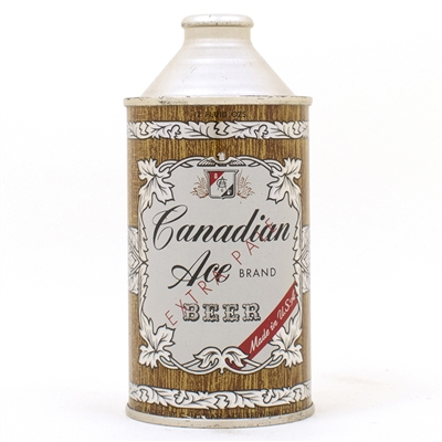 Canadian Ace Beer Cone Top Can