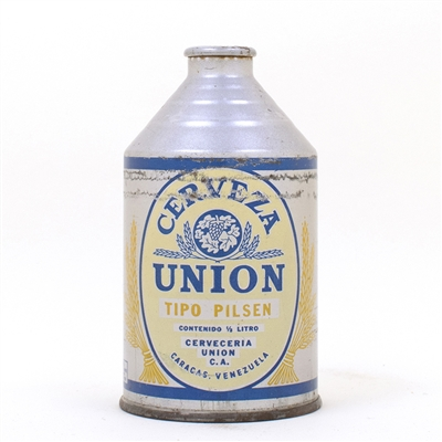 Cerveza Union Caracas Venezuela Cone Top Can