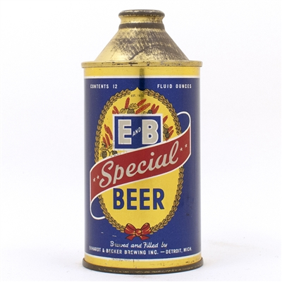 E and B Special Beer Cone Top Can