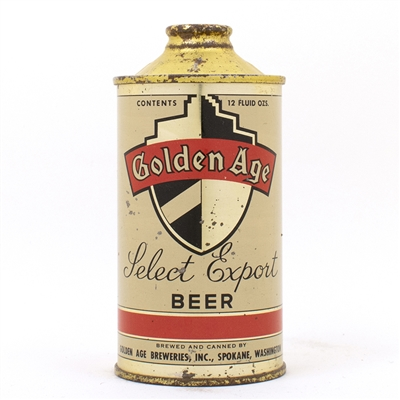 Golden Age Select Export Beer Cone Top Can