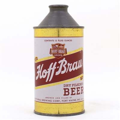 Hoff-Brau Dry Pilsener Beer Cone Top Can