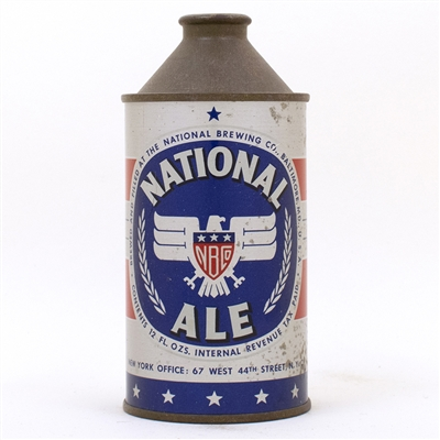 National Ale Eagle SILVER Cone Top Can