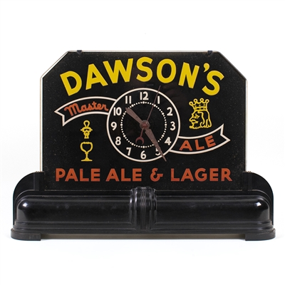 Dawsons Master Ale Lighted Back Bar Sign