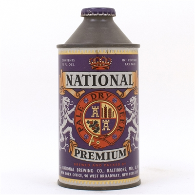 National Premium Pale Dry Beer Cone Top Can