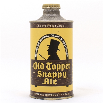 Old Topper Snappy Ale J Spout Cone Top