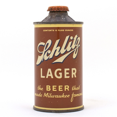 Schlitz Lager Beer FBIR Cone Top Can