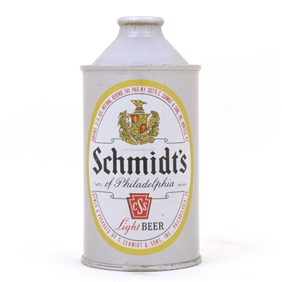 Schmidts Light Beer FLAT BOTTOM Cone 185-4