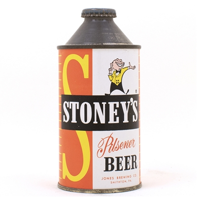 Stoneys Pilsener Beer Cone Top Can
