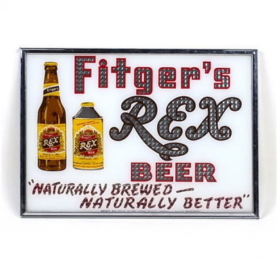 Fitgers Rex Beer Reverse Painted Sign