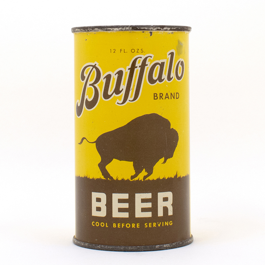 Buffalo Brand Beer Instructional Flat Top Can