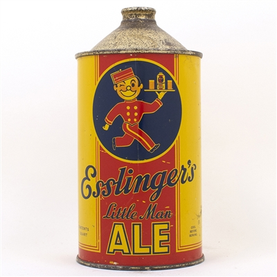 Esslingers Little Man Ale Quart Cone Top Can