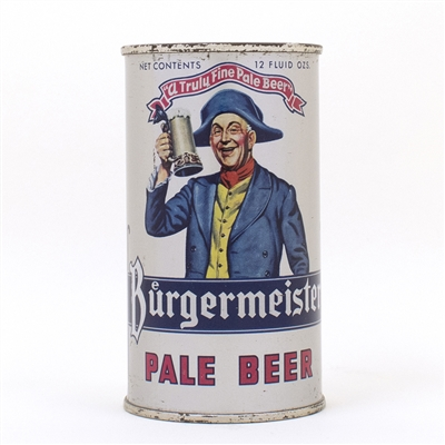 Burgermeister Pale Beer Flat Top Can