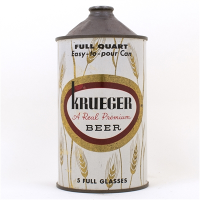 Krueger Real Premium Beer Quart Cone Can