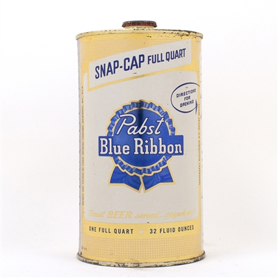 Pabst Blue Ribbon Instructional Quart Can 217-3