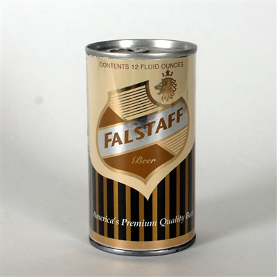 Falstaff Black Gold Striped Test Can