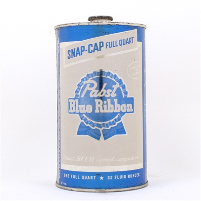 Pabst Blue Ribbon Instructional Quart Can 217-5