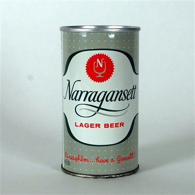 Narragansett Lager Early Pull Ring Can