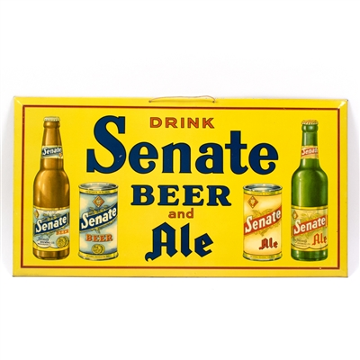 Senate Beer Ale Cans Bottles TOC Sign