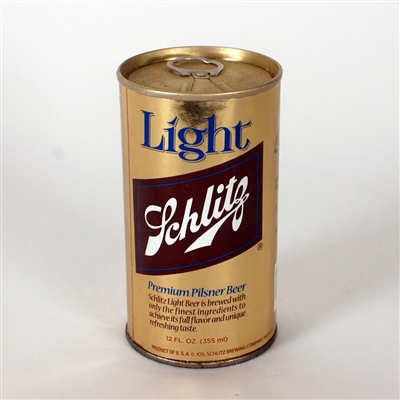 Schlitz Light GOLD LARGE LABEL Test Can